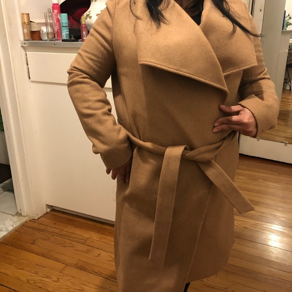 Tan 100% wool trench coat small Tom Tailor Boutique